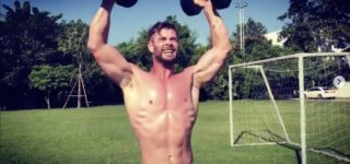 Chris Hemsworth's Workout Was So Hot His Shirt Burst into Flames: WATCH