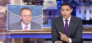 Trevor Noah is Shocked by Mick Mulvaney's 'Get Over It' Admission of Trump's Quid Pro Quo: 'This is a Twist I Didn't See Coming' — WATCH