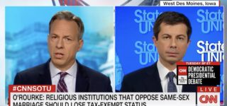 Pete Buttigieg Clashes with Beto on Churches Losing Tax Exempt Status Over Anti-Gay Discrimination: 'I'm Not Sure He Understood the Implications' — WATCH