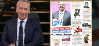 Bill Maher Drops Gay-Coded List on Lindsey Graham: WATCH