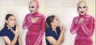 AOC Fangirls Over Sasha Velour Backstage at D.C. Drag Show: WATCH