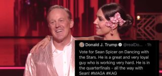 Trump Quickly Deletes Tweet Urging Vote for Sean Spicer After Former Press Secretary Gets Canned on 'Dancing with the Stars'