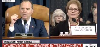 Adam Schiff Asks Marie Yovanovitch to Respond to Real-Time Trump Twitter Attack During Her Testimony: WATCH