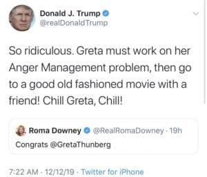 Greta Thunberg Trump