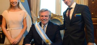 New Argentine President's Drag Queen Son Rocked a Rainbow Flag Pocket Square at the Inauguration This Week: WATCH