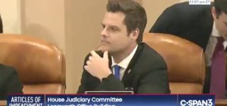 GOP Rep. Matt Gaetz Called Out for DUI After Ripping Hunter Biden for Substance Abuse in Impeachment Hearing: WATCH