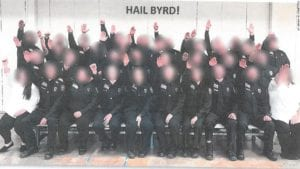nazi salute west virginia correctional officers