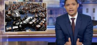 Trevor Noah, Stephen Colbert Mock Senators  Who Are 'Bored' with Trump's Impeachment Trial: WATCH