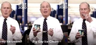 Mike Bloomberg Ingests a Really Awkward Spoonful of 'Big Gay Ice Cream' — WATCH