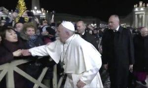 Pope slaps