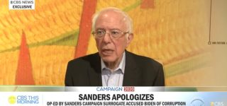Bernie Sanders Apologizes for Surrogate's Op-Ed Accusing Joe Biden of 'Corruption Problem' — WATCH