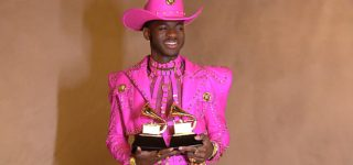 Versace Goes Behind-The- Scenes of Lil Nas X's Fuchsia Leather Grammy Lewk, Which Took 700 Hours to Complete: WATCH