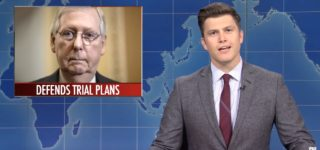 SNL's Weekend Update Reviews the Sham Impeachment Trial: 'Republicans Laid Out Their Defense, the Shrug Emoji' — WATCH