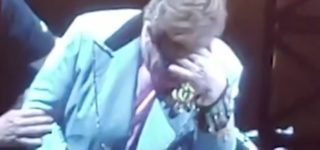 Elton John Tearfully Assisted Off Stage After Voice Fails Due to Pneumonia: WATCH