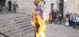 Town Burns Effigy of Gay Couple with Child as Part of Carnival Celebrations: WATCH