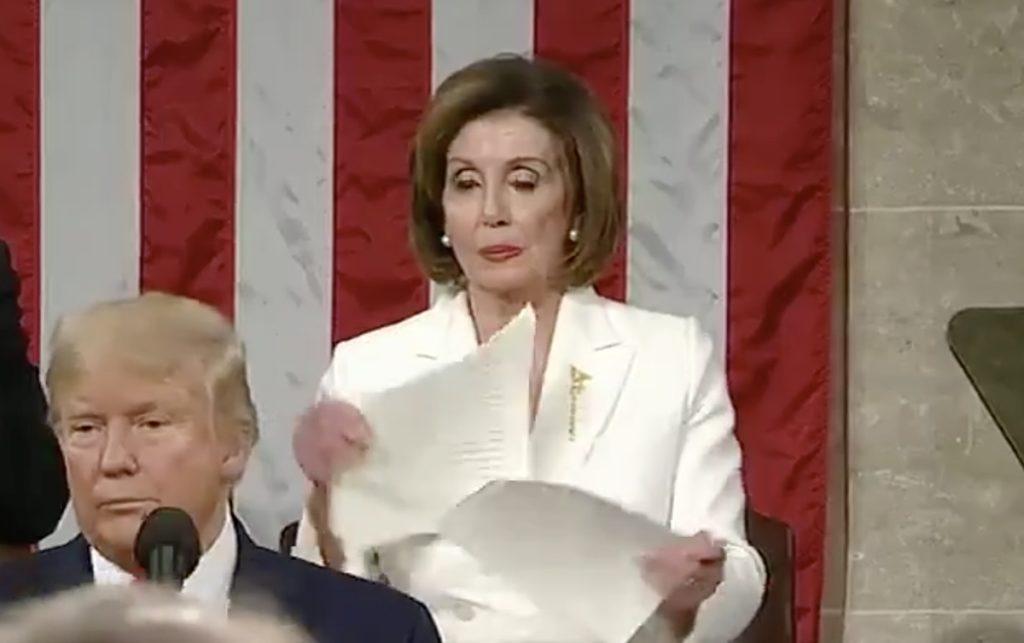 pelosi ripping speech