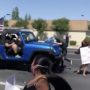 Trump Supporters in Jeep Run Down 'Black Lives Matter' Protesters: WATCH