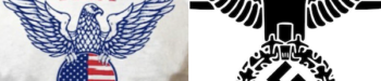 Trump T-Shirt Logo Resembles Nazi Emblem, But Campaign Dismisses Complaints as 'Moronic'