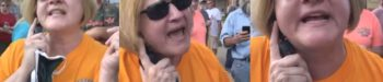 Homophobic 'Covered Bridge Karen' Taunts 'Black Lives Matter' Protester: 'Come Across the Line, Fag Boy!' — WATCH