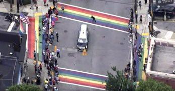 john lewis rainbow crosswalks