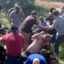 Pro-Police Protesters Surround 'Black Lives Matter' Activists, Back Them into a Ditch, and Pummel Them in Insane Video: WATCH