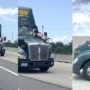 Man Goes for Wild Ride on Hood of Moving Semi on Florida Turnpike: WATCH
