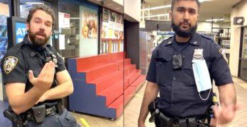 NYPD mask subway