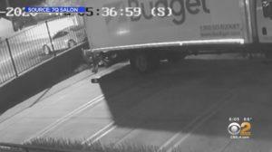 truck dumping mail