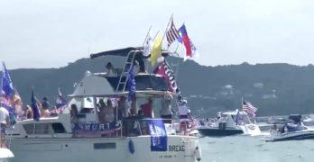 trump boat parade lake travis