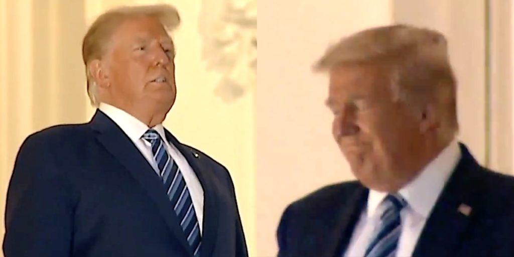 Gasping Trump