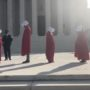 'Handmaids' Protest Nomination of Amy Coney Barrett at U.S. Supreme Court: WATCH