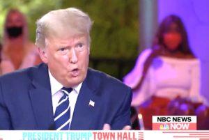 Trump town hall nodding