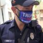 Miami Police Officer Photographed Patrolling Polling Place in 'Trump 2020' Mask