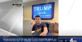 Trump flag student