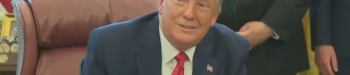 Trump Mocks Reporter for Wearing Mask in Oval Office: 'That's the Largest Mask I Think I've Ever Seen' — VIDEO