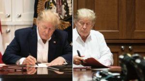 staged trump photos