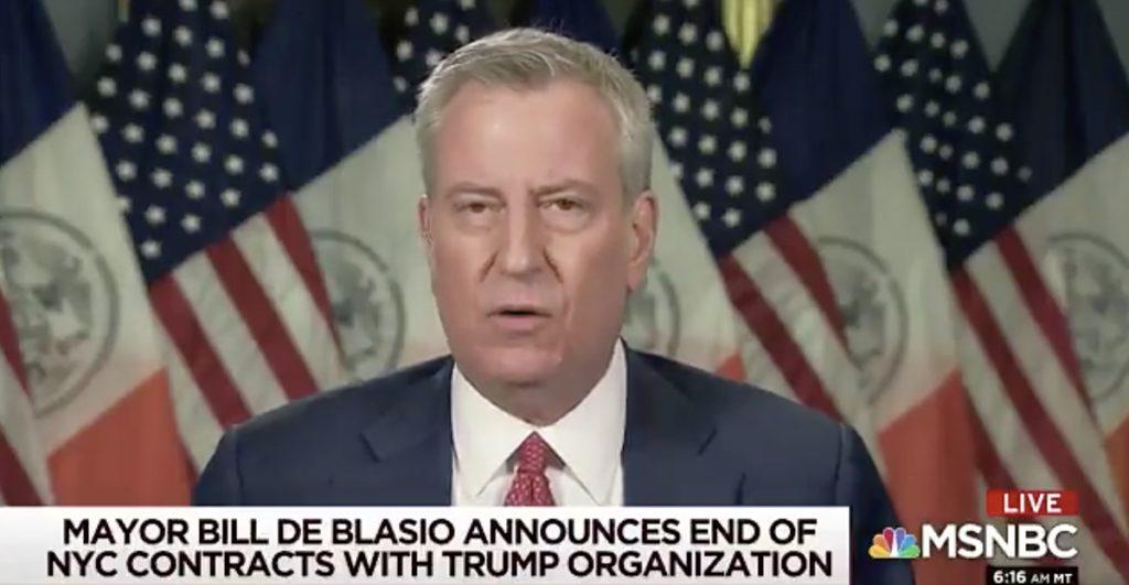 NYC trump de blasio