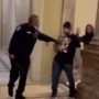 Capitol Police Officer Hailed as Hero for Leading Insurrectionists Away from Senate Chamber: WATCH