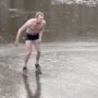 Amsterdam Man Goes Viral After Epic Figure Skate Fail on Thin Ice: WATCH