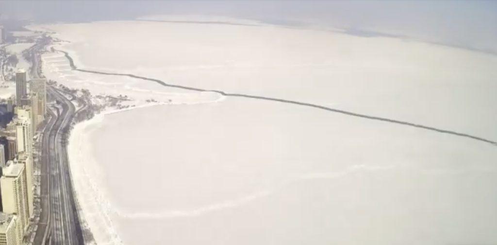 time lapse lake michigan ice