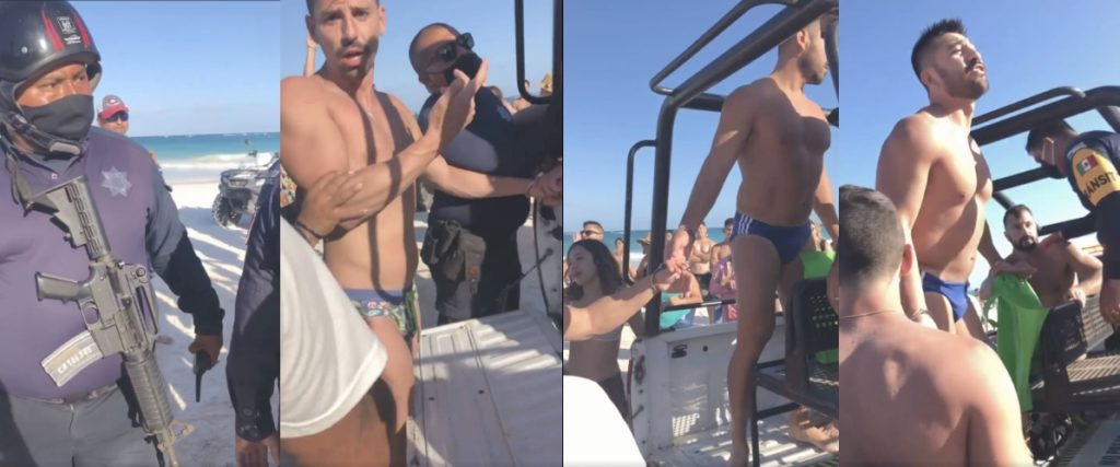 Tulum gay couple arrested kissing