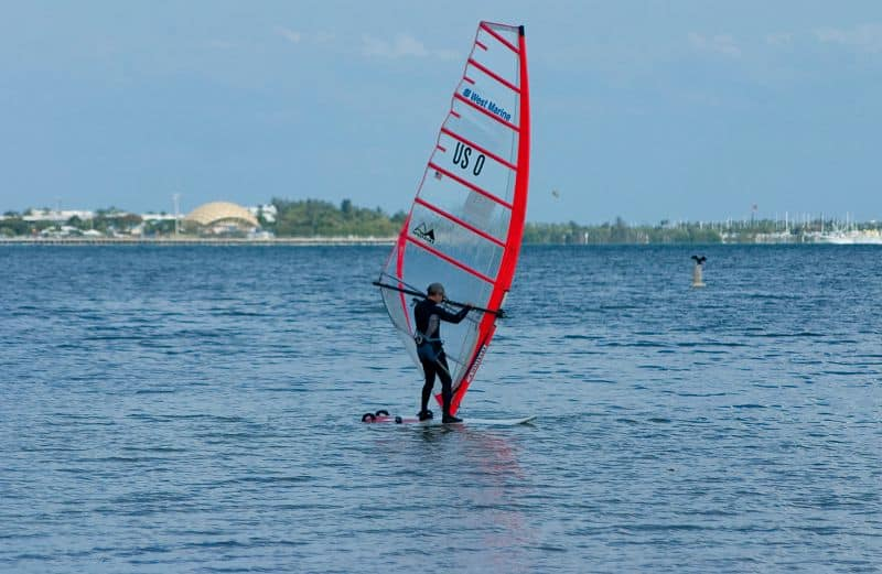 Miami is a popular spot for windsurfing. Photo courtesy of the GMCVB.