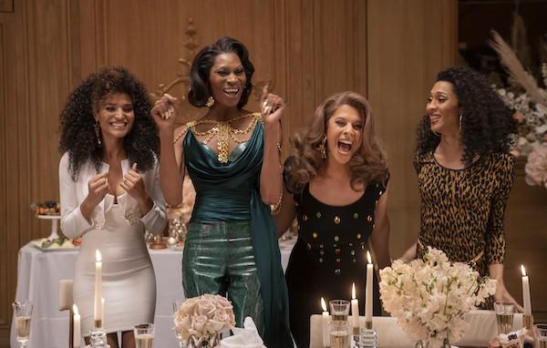 "Indya Moore as Angel, Dominique Jackson as Elektra, Hailie Sahar as Lulu, Mj Rodriguez as Blanca in POSE: ""Something Borrowed, Something Blue"" -- Season 3, Episode 5."