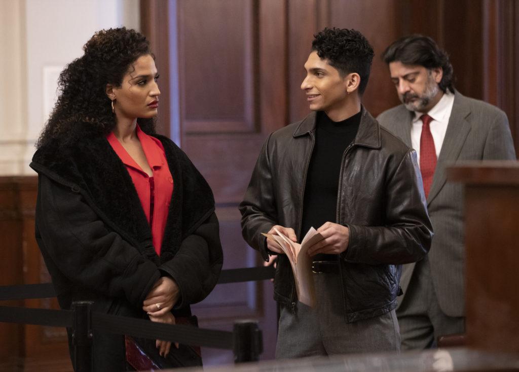Indya Moore as Angel, Angel Bismark Curiel as Lil Papi in Pose.