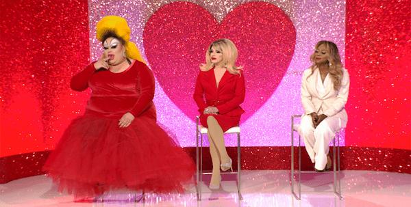Eureka as Divine, Pandora as Kim Cattrall and Ra'Jah as La Toya Jackson on RuPaul's Drag Race All Stars.