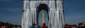 Artist Christo's dream fulfilled as Arc de Triomphe wrapped in fabric