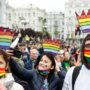 Thousands  March for Ukraine LGBTQ Rights With Some Opposition